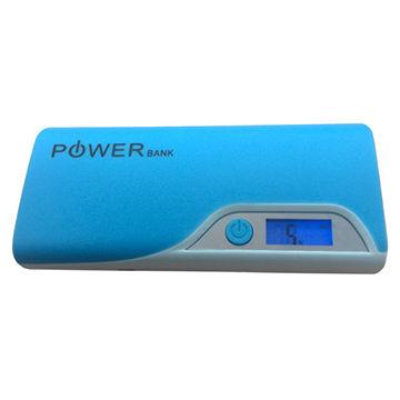 12,000mAh LCD Flashlight Power Bank (UL, CE)